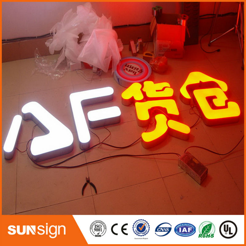 Personalized Alphabet Led Sign/led Epoxy Resin Sign Sample Business Letter