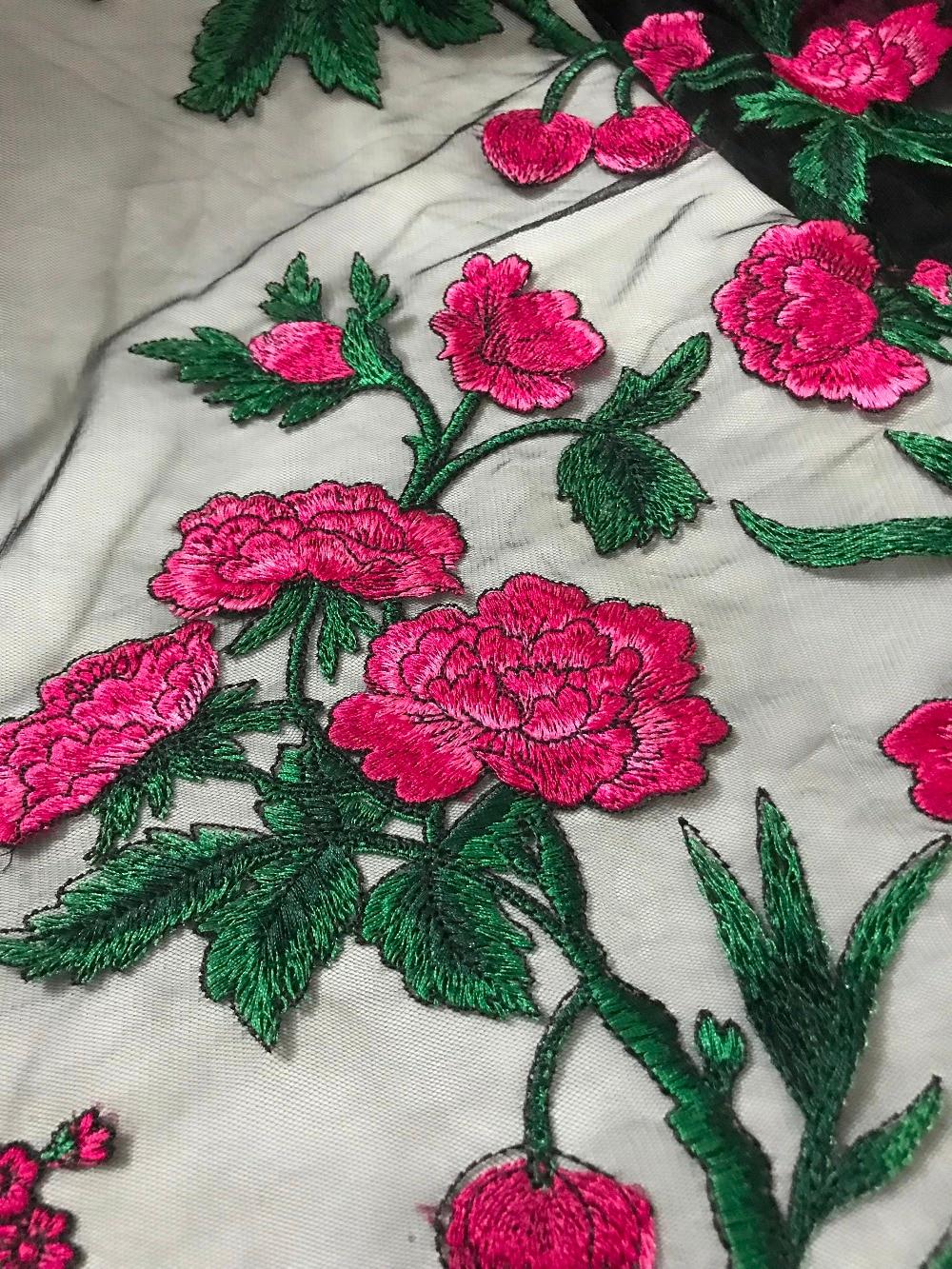 Beste kwaliteit 3d bloem geborduurde Afrikaanse Tule Kant Stof mode sat 51144 Afrikaanse Franse Kant Stof met borduurwerk-in Kant van Huis & Tuin op  Groep 3