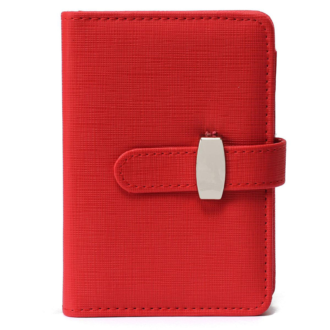 BLEL Modern Design A7 Personal Organiser Planner PU Leather Cover Diary Notebook School Office Stationery (Red)