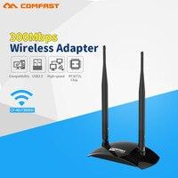 300 Mbps Yüksek Güç USB Wifi adaptörü COMFAST wi-fi ağ kartı RALINK RT3072 çip ile 2 * 6dBi wifi Anten için Wifi Alıcısı pc