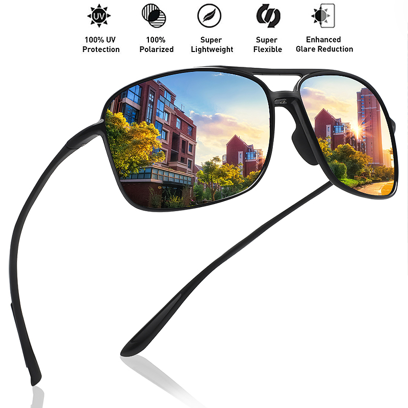 MAXJULI Classic Pilot Sunglasses Men Polarized Driving Sun Glasses Male Cycling Sports Goggles UV400 Hiking Eyewear Tr90 Frame