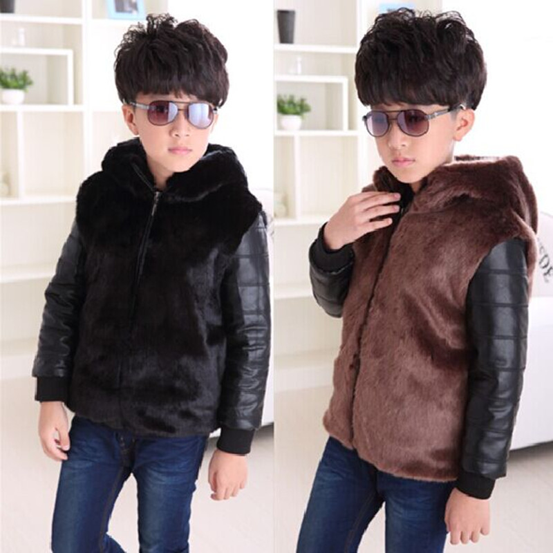 Boys and girls High quality PU leather jacket 2017 new autumn and winter clothes children kids boys fashion fur coat jacket new oculos de sol feminino polaroid kids sunglasses girls boys sunglass with case high quality