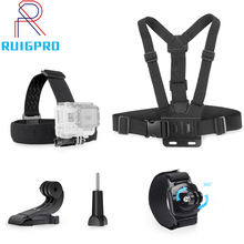 For Xiaomi for Yi Chest Strap Belt Head Set Mount 360 Degrees Rotation Wrist Gopro Hero 6 5 7 Action Camera