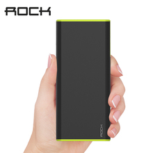ROCK Original Cola 10000mAh Power Bank 18650 for iPhone Samsung Quick Charge Phone Battery Charger Powerbank Phones Tablet Cable