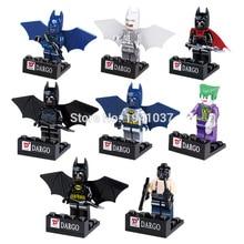 D840 Super Heroes Batman Minifigures 8pcs/lot 4.5cm Building Blocks Sets Model Bricks Figure Toys For Children