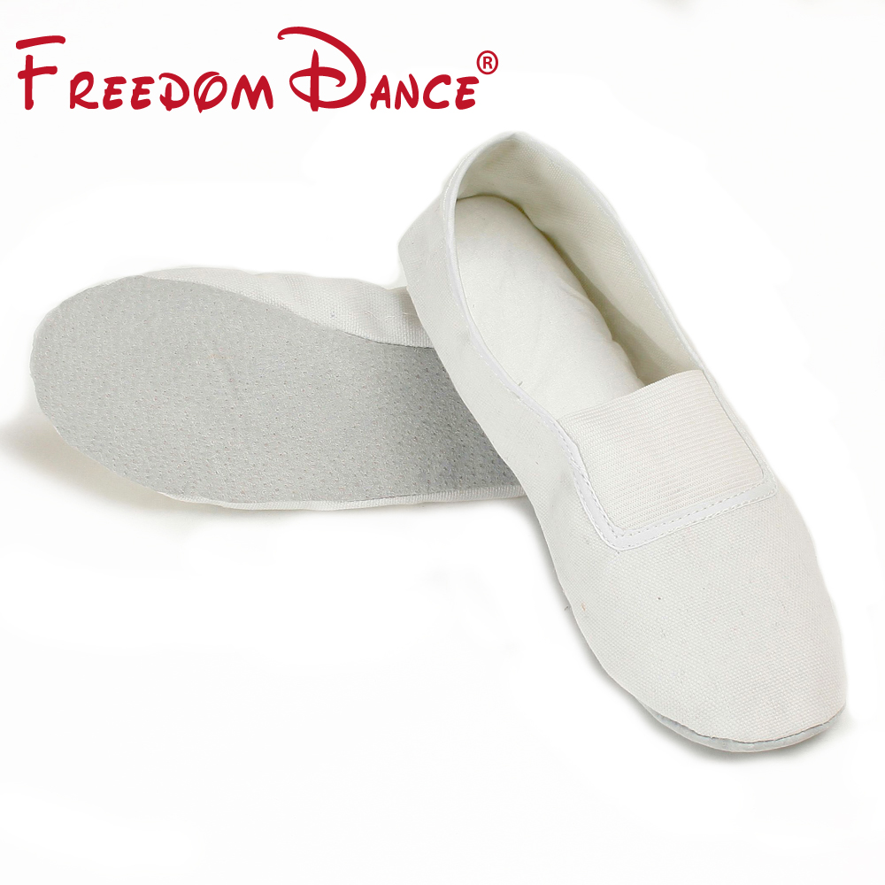 2019 Básico para niños y adultos Gimnasio blando zapatos de fitness Zapatillas de ballet de lona para niñas Slip on Dancesport Jazz Shoes For Men Boys