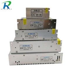 Riri ganhou dc 12 v fonte de alimentação iluminação transformador interruptor motorista para tiras led adaptador ac 220 v 2a 3a 6.5a 10a 15a 25a 30a 33a