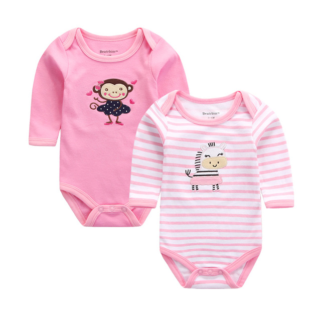 9adad911fcb00 Baby Clothes Cotton Baby Rompers 2pcs/lot Autumn Long Sleeve Baby Clothing  Overalls for Newborns Girl Boy Cartoon Baby Body Suit