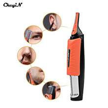 CkeyiN Ear Eyebrow Nose Trimmer Removal Clipper Shaver Personal Electric LED Light Face Care Multifunction Hair