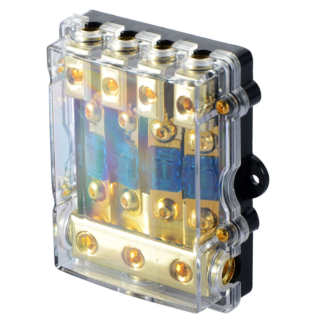 Good Deal 1pcs Universal Car Auto Vehicles Audio Amplifier 1 In 4 Home Fuse Box Amps Ways Out Holder