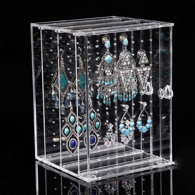 Acrylic Jewelry Display Earring Holder and Jewelry Organizer Earring