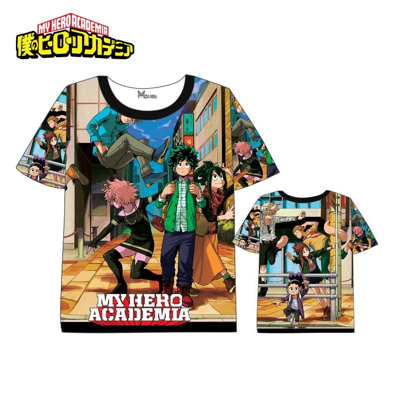 Anime  My Hero Academia T-shirt Men Women Short Sleeve Summer dress Cartoon t shirt