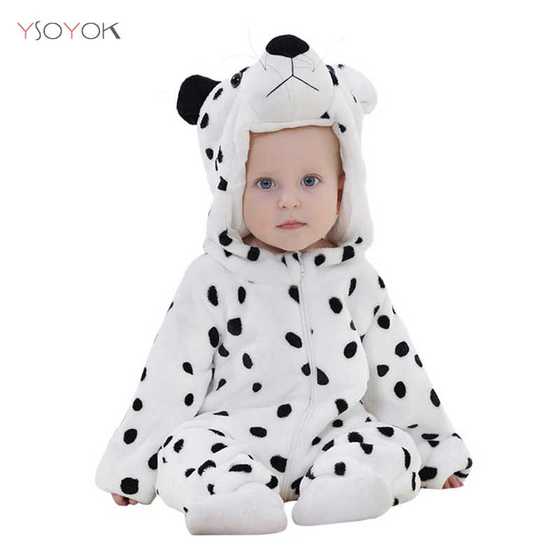 563aaa623 ... Baby Rompers New Born Baby Clothes Winter Boys Girls Jumpsuits Kigurumi  Onesies Animal Panda Stitch Pajamas