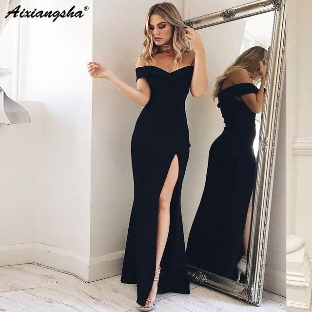 d648e7c005 Seksowne sukienki na bal 2019 dekolt w serek długi bez rękawów piętro  długość sukienka koktajlowa Sexy wieczór Gwon zamek błyskawiczny z tyłu  Robe De Soiree
