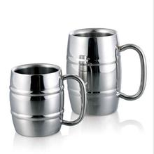 Good Quality metal drinkwware cups for beer/coffee/tea mug/Double wall Bamboo pattern stainless steel mug and cup