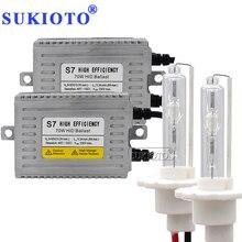 SUKIOTO مصباح أمامي زينون للسيارة ، مصباح أمامي 24 فولت 70 واط ، طقم زينون HID DLT S7 ، شاحن قارب ، مصباح أمامي D2H H7 H1 H3 H8 H11 H4 bixenon 3000K 8000K