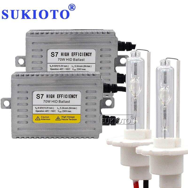 SUKIOTO 24 V 70 W phare HID xénon KIT DLT S7 BALLAST camion bateau Van phare D2H H7 H1 H3 H8 H11 H4 bixenon 3000 K-8000 K XENON