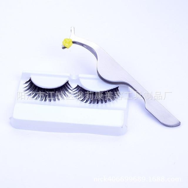 1x False Fake Eyelashes clip stainless steel Eye Lash eyelash curler Applicator Beauty Makeup Cosmetic Tool
