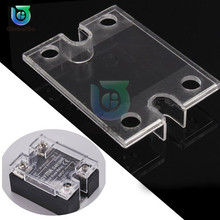 цена на 2pcs/Lot Solid State Relay SSR Plastic Cover DC control Single Phase Solid State Relay Safe Shell Case Box Front Cover