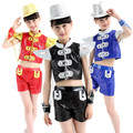 5pcs/lot Free Shipping Sequin Children Jazz Clothing Hip Hop Dance Wear Kids Girls Boys Stage Ballroom Dancing Costumes Clothes