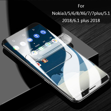 Full Cover Hydrogel Film For Nokia 8 6 7plus Screen Protector Nokia3 5 X6 5.1 2018 6.1 plus Soft Protective