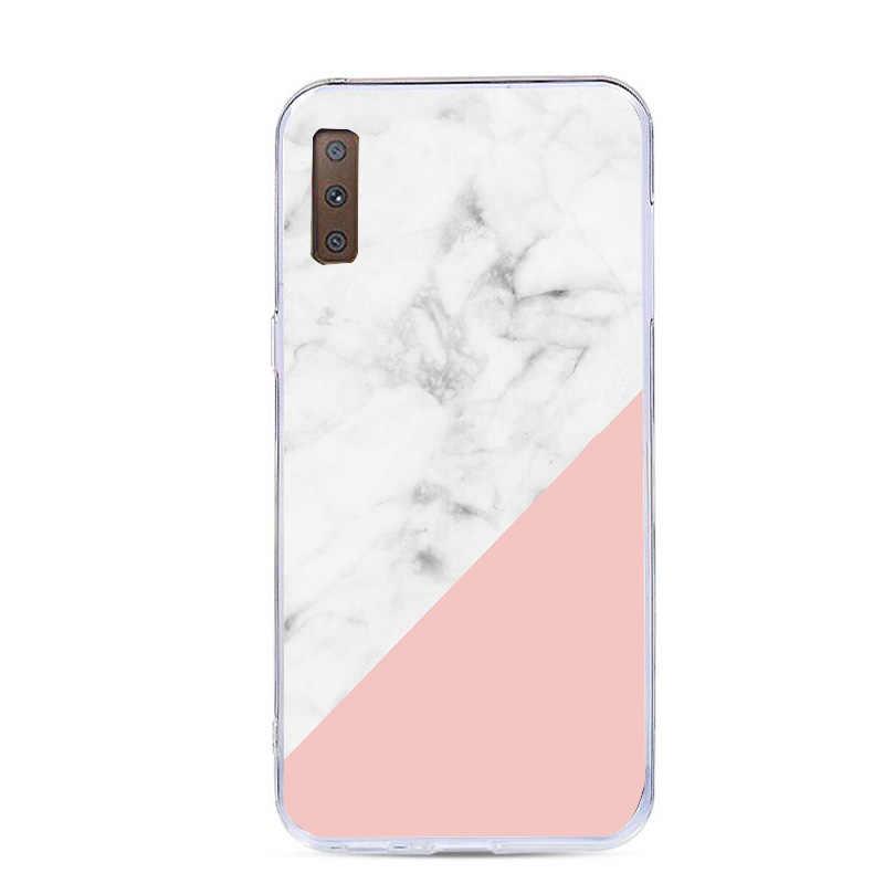 Caso da flor Para O Coque Samsung Galaxy J5 A5 2017 A520 A7 A8 Plus 2018 S7 Borda S8 S9 Plus Nota 9 Tampa Do Telefone de Silicone macio