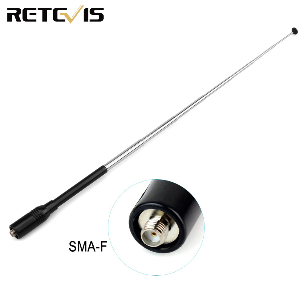 Retevis RT-773 SMA-F Telescopic Antenna VHF UHF For Baofeng UV-5R  Ailunce HD1 Retevis H777 RT5R RT5 Radio Walkie Talkie C9023A