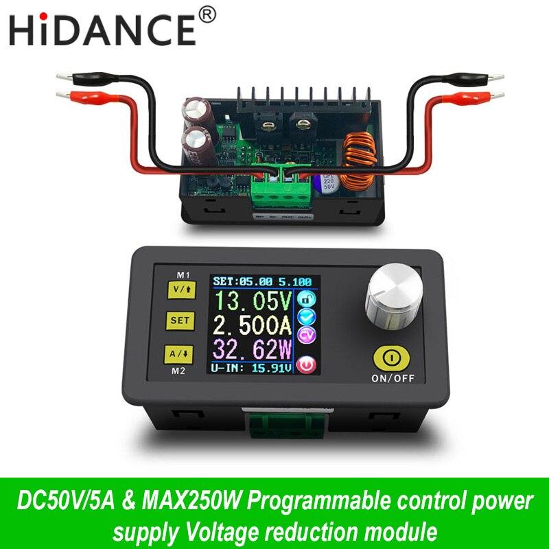 Цифровой Управление источника питания 50 В 5A Регулируемая постоянная Напряжение постоянный ток тестер DC Вольтметр регуляторы амперметр