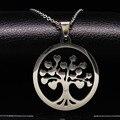 Árbol de La Vida de Los Colgantes Mujeres Hombres Joyería Declaración Collar de Cadena de Acero Inoxidable Árbol Árbol de Neckless collares N16812