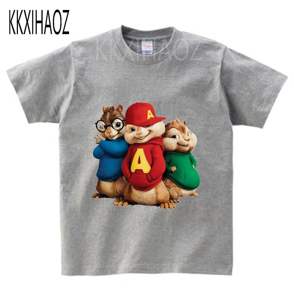 Alvin and the Chipmunks Alvin Print t-shirt kids tops Tee Comfortable t shirt boy girl Casual cartoon Short Sleeve TEE camiseta 1