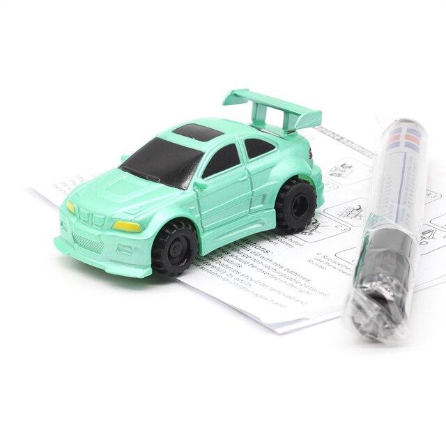 جديد التوصيل المجاني قلم سحري سيارة شاحنة الاستقرائي اتبع أي خط أسود مرسومة المسار لعب صغيرة المركبات الهندسية لعبة تعليمية