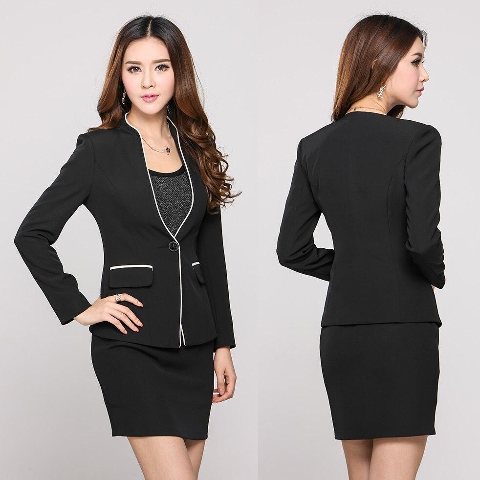 Ladies Business Suits Blazer Women Skirt Suit Work Wear ...