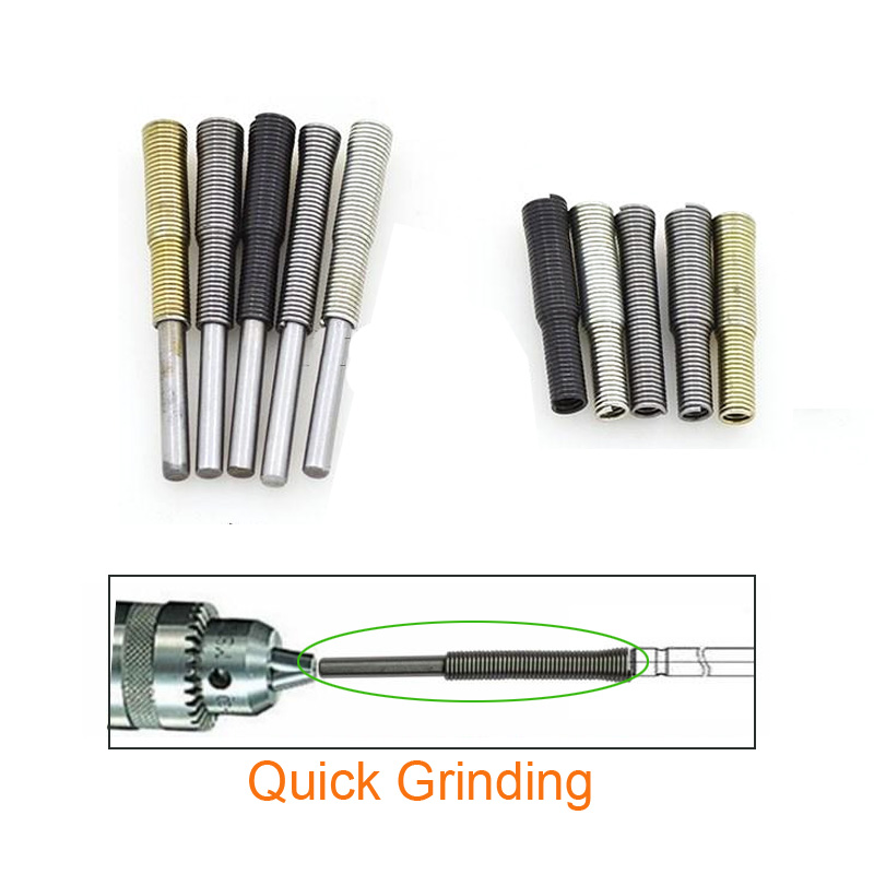 5pcs/lot Motorcycle Repair Tool Valve Quick Grinding Tools For 50cc 80cc 100cc 125cc 150cc 250cc Scooter Electric Drill Part