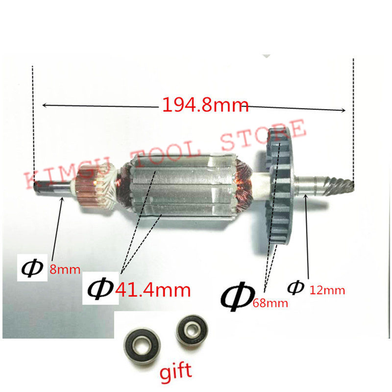AC220-240V Armature Rotor Motor Engine for Replacement 6 Teeth MAKITA 9227CB 9237CB 9227C Armature