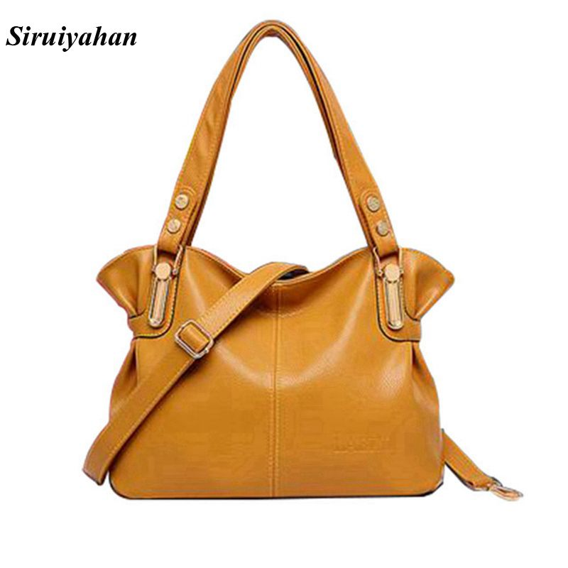 Siruiyahan Genuine Leather Bag Female Luxury Handbags Women Bags Designer Shoulder Bags Women Bags For Girls Bolsa Feminina chispaulo women genuine leather handbags cowhide patent famous brands designer handbags high quality tote bag bolsa tassel c165