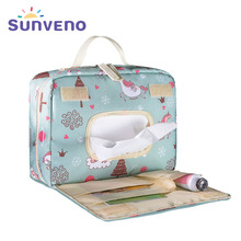 Sunveno новая Оригинальная водонепроницаемая сумка для подгузников, модная сумка для подгузников, многоразовая мокрая сумка для мам для ухода за ребенком, сумка для подгузников для беременных