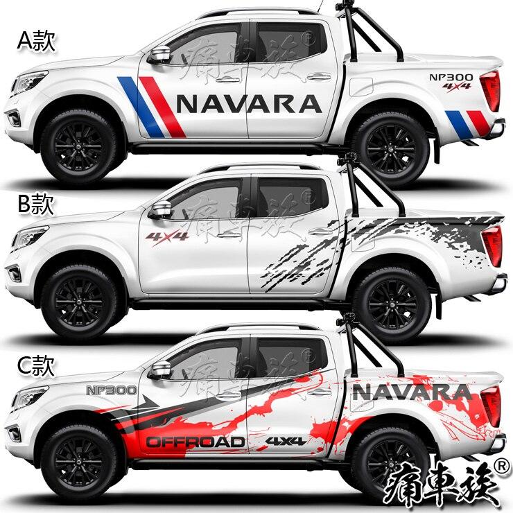Pour Nissan NVAVRA voiture autocollants tirer fleurs camionnette voiture décoration véhicule modifié voiture complète autocollants D-MA