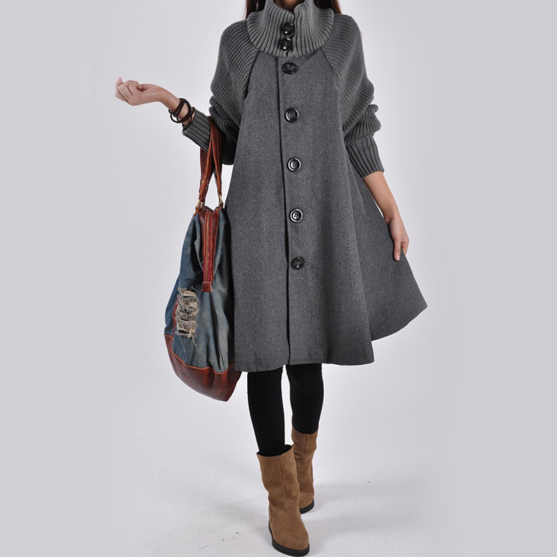 Female Coat Women Plus Size Tops Lady's Winter Long Sleeve Clothes for Pregnant Women Wool & Blends Autumn Maternity Clothing hot sale open front geometry pattern batwing winter loose cloak coat poncho cape for women