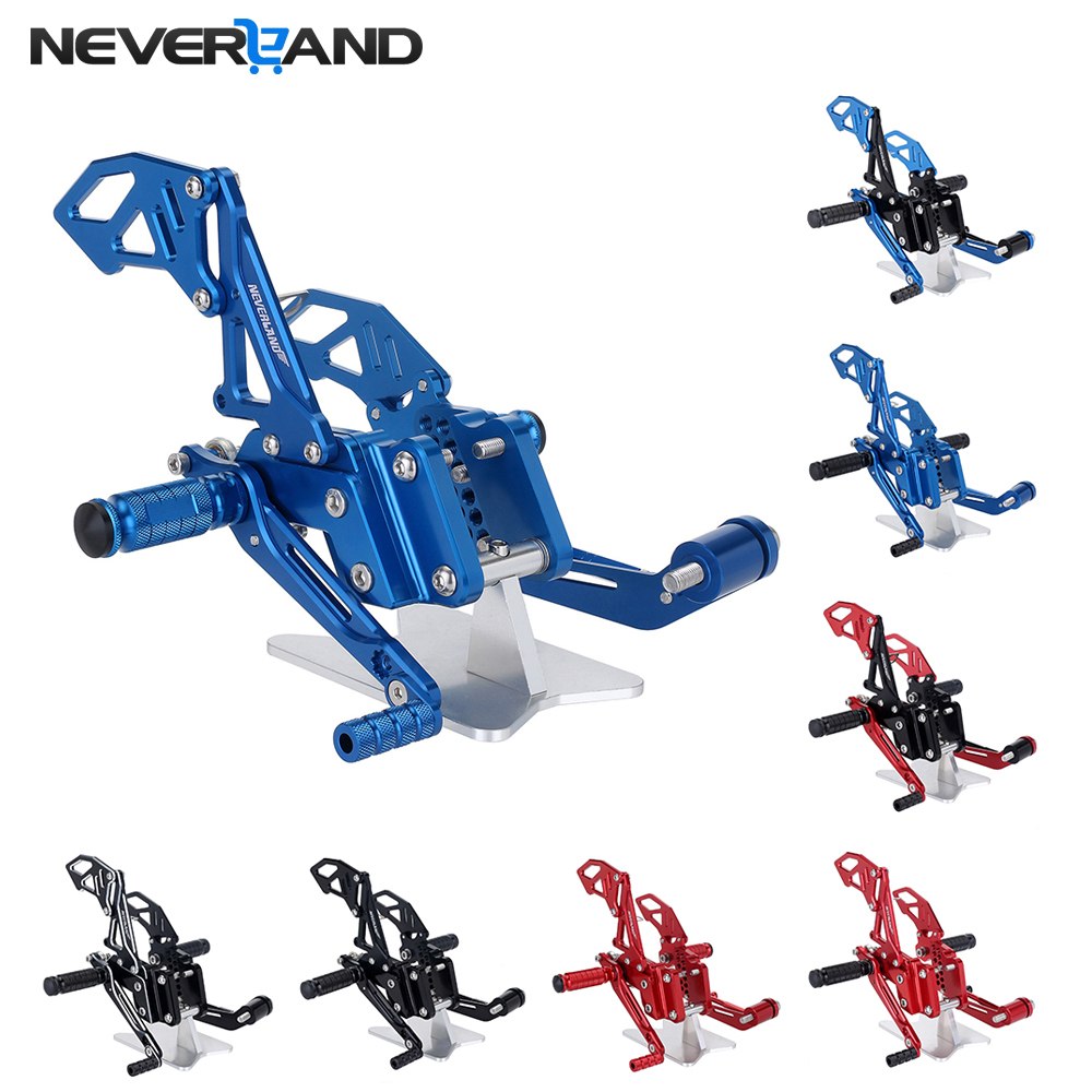NEVERLAND GSXR 600 750 CNC Adjustable Rearsets Foot rear Rest For SUZUKI GSX-R600/750 2006 2007 2008 2009 2010 black rear pillion seat cowl cover for 2006 2007 suzuki gsxr gsx r 600 750 k6