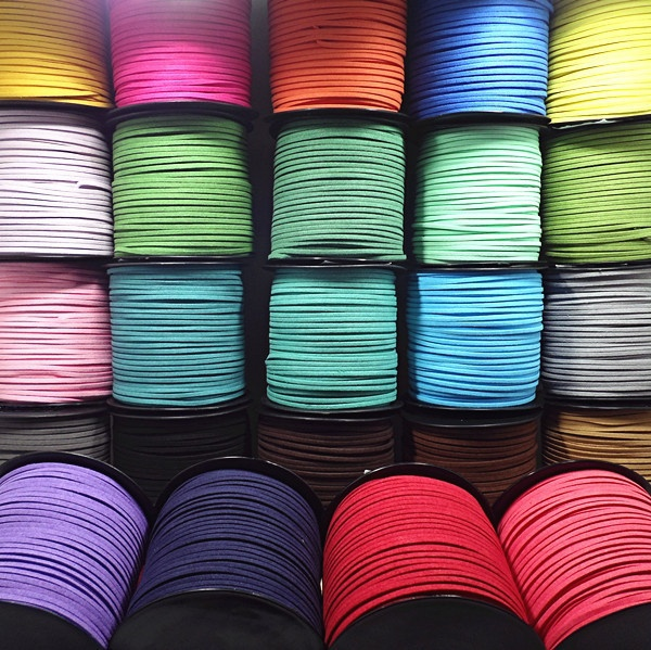 3mm 5 Yards Macrame Braided Faux Suede Cord Leather Lace DIY Handmade Beading Bracelet Jewelry Making Flat Thread String Rope