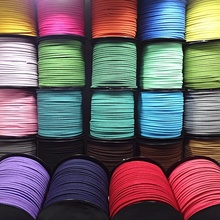 3mm 5 Yards Macrame Braided Faux Suede Cord Leather Lace DIY Handmade Beading Bracelet Jewelry Making Flat Thread String Rope stylish faux leather braided bracelet