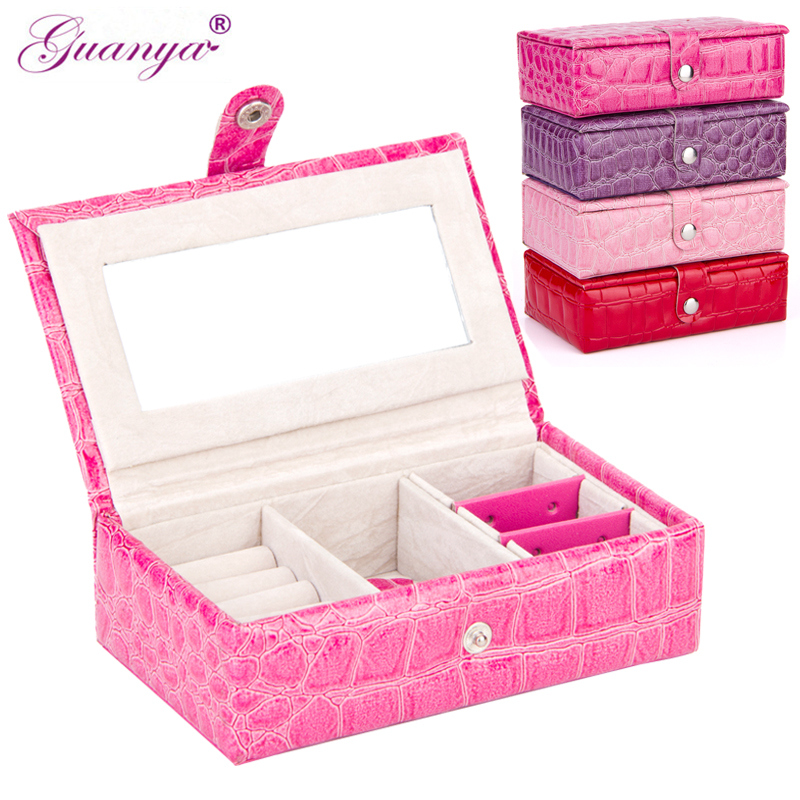 On Sale 1pc Leather Jewelry Box Plate Stud Earring Storage Box