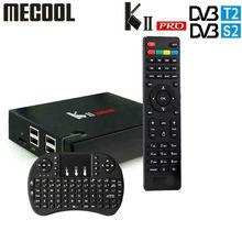 DVB S2/T2 Mecool KII PRO Android 7.1 กล่องทีวีAmlogic S905D K2 PRO QuadCore 2G16G 4KสนับสนุนNEWCAMD dual Wifi BT4.0