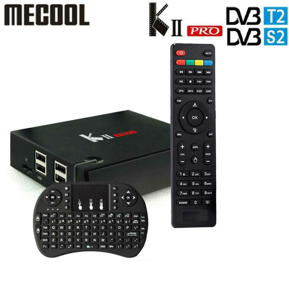DVB-S2/T2 Mecool KII PRO Android 7.1 TV Box Amlogic S905D K2 PRO QuadCore 2G16G 4 K Supporto CCCAM NEWCAMD Dual Wifi BT4.0