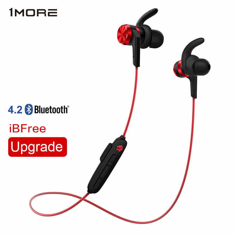 1 więcej iBFree bezprzewodowy zestaw słuchawkowy Bluetooth 4.2 zestaw słuchawkowy słuchawki douszne słuchawka sportowa z mikrofonem IPX6 odporny na pot