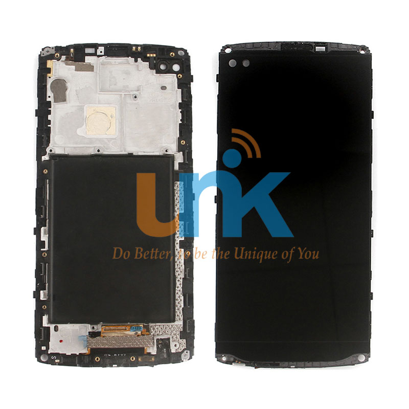 Original 5.7 For LG V10 LCD Screen Touch Glass Digitizer with Bezel Frame Assembly Replacement - For V10 H900 H901 Free Ship original lcd for lg g3 d850 d855 lcd display screen digitizer touch glass pantalla with frame bezel assembly replacement