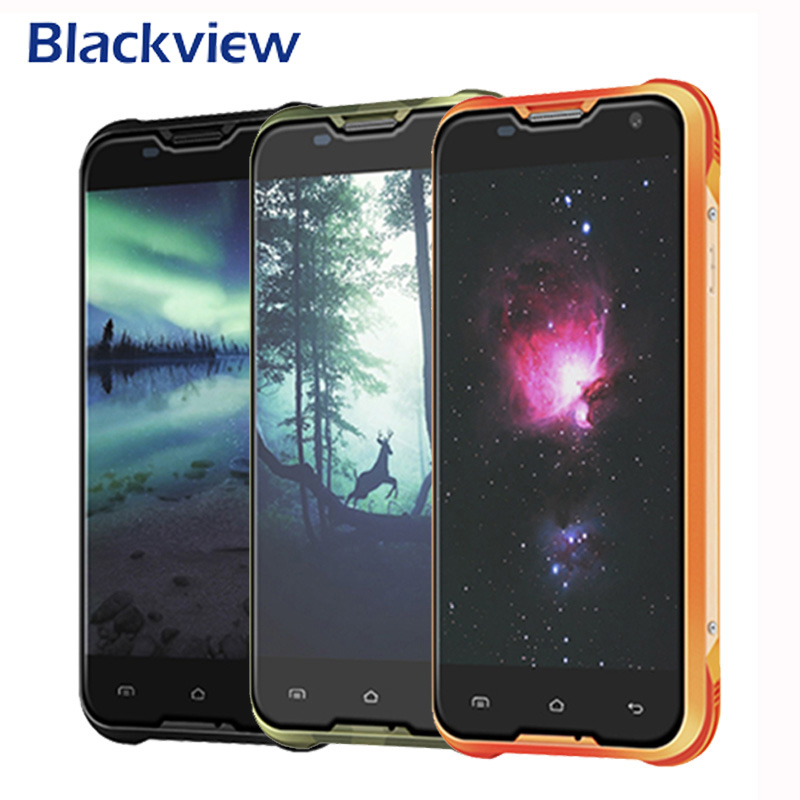 Blackview BV5000 MTK6735P Mobile phone Quad Core 1 0GHz Cell Phones RAM2GB ROM16GB Waterproof 8MP 1280x720
