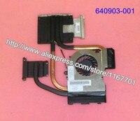 100% Original Laptop CPU Cooling heatsink&fan fit for HP DV7 6000 DV6 6000 notebook intel CPU Radiator 641477 001 640903 001