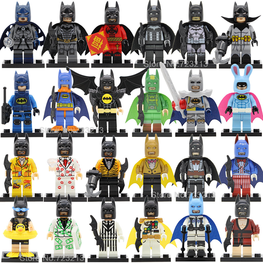Single Sale Batman Figure DC Super Hero Ribbit Swimming Gentleman Comic Bat Man Building Blocks Model Bricks Toys