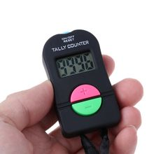 цена на 0-9999 Digital Tally Counter ABS 4 Digit Counter Electronic Manual Clicker Security Running Counter For Golf Gym